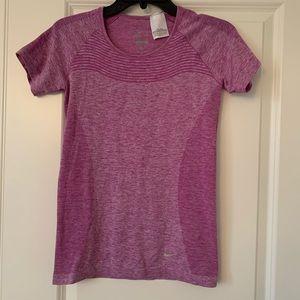 Nike Dri-Fit Running Tee - Pink/Purple | Sz S